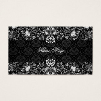 Elegant Black & White Floral Swirls