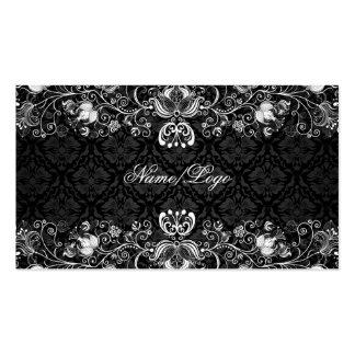 Elegant Black & White Floral Swirls Pack Of Standard Business Cards