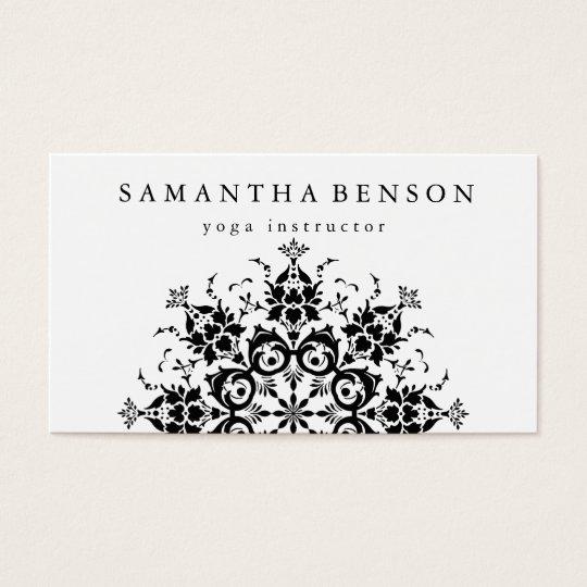 Elegant Black & white Flower Logo Yoga Business