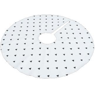 Elegant black white geometric pattern | triangles brushed polyester tree skirt