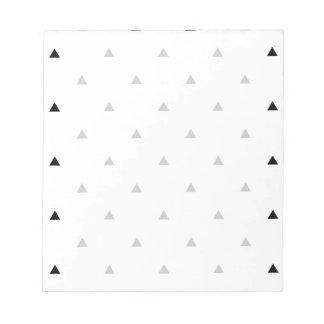 Elegant black white geometric pattern | triangles notepad