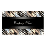 Elegant Black White Silver Indestructible Double-Sided Standard Business Cards (Pack Of 100)