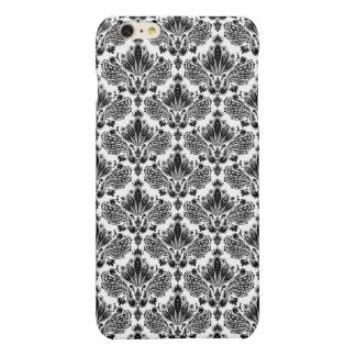 Elegant Black & White Vintage Floral Damasks iPhone 6 Plus Case