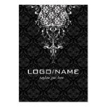 Elegant Black & White Vintage Floral Damasks Pack Of Chubby Business Cards