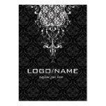 Elegant Black & White Vintage Floral Damasks Pack Of Chubby Business Cards