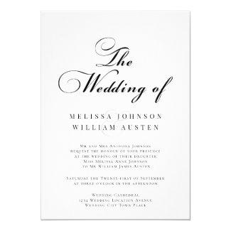 Elegant Black & White Wedding Invitation