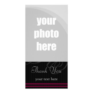 Elegant Black Wine Thank You Picture Card