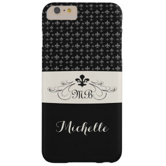 Elegant BlackWhite Fleur de Lis iPhone 6 Plus Case
