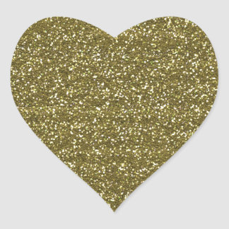Elegant Blank Gold Glitter Seals Heart Sticker