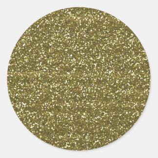 Elegant Blank Gold Glitter Seals Round Sticker