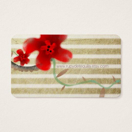 Elegant Blossom Chic Business Card