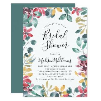 Elegant Blossoms Floral Bridal Shower Invitation