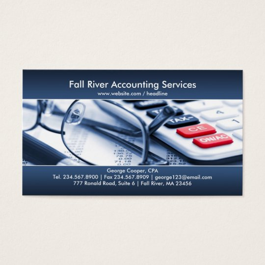 Elegant Blue Accounting Business Card