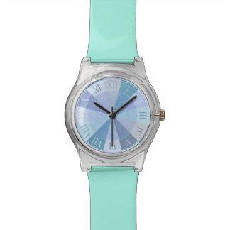 Elegant Blue and Aqua Roman Numerals Fancy Girl's Watch