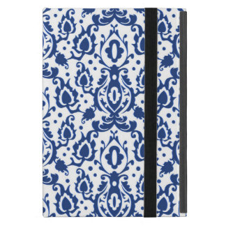 Elegant Blue and White Moroccan Style Damask Case For iPad Mini