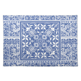 Elegant Blue and White Renaissance Lace Placemat