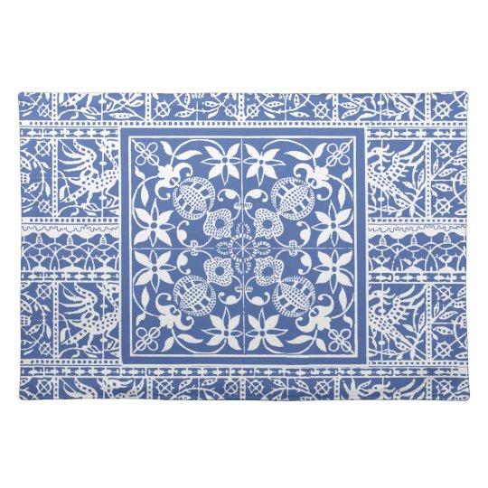 Elegant Blue and White Renaissance Lace Placemats