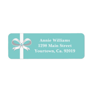 Elegant Blue Bridal Shower Return Address Return Address Label