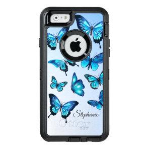 Elegant Blue Butterflies OtterBox Defender iPhone Case