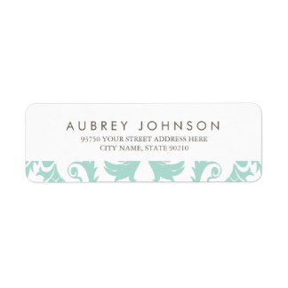 Elegant Blue Damask Address Labels