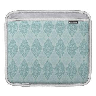 Elegant Blue Damask Sleeves For iPads