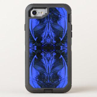 Elegant Blue Digital Design OtterBox Defender iPhone 8/7 Case