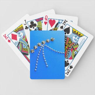Elegant Blue Fantasy Gems Bicycle Playing Cards