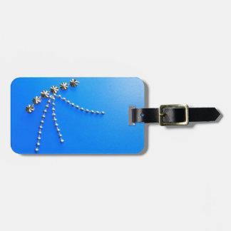 Elegant Blue Fantasy Gems Luggage Tag