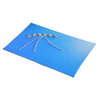 Elegant Blue Fantasy Gems Placemat