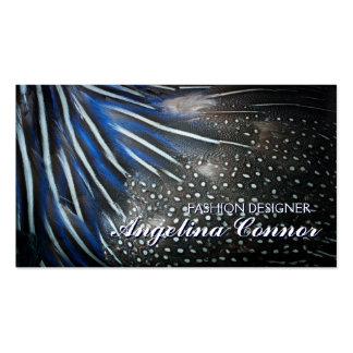 Elegant Blue Feather Fashion Designer Card Pack Of Standard Business Cards
