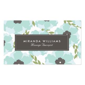 Elegant Blue Floral Business Cards - Groupon