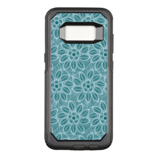 Elegant Blue Floral Lace Pattern OtterBox Commuter Samsung Galaxy S8 Case