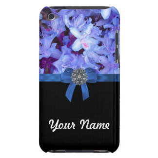 Elegant blue flower & bow iPod touch cover