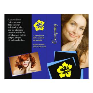 Elegant Blue Fold Beauty Health Hair Design Flyer