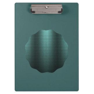 Elegant blue green metallic look with black traces clipboard