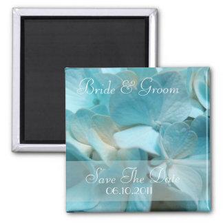 Elegant Blue Hydrangea Save the date magnet