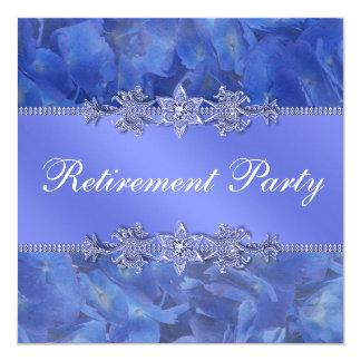 Elegant Blue Hydrangea Womans Retirement Party Card