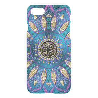 Elegant Blue Mandala Celtic Knot iPhone 7 Case