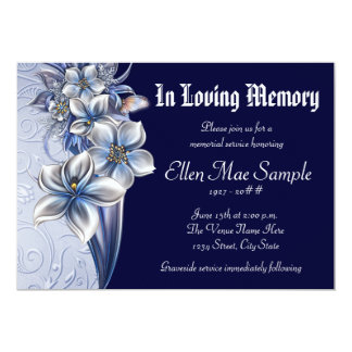 Memorial Service Invitations & Announcements | Zazzle.co.uk