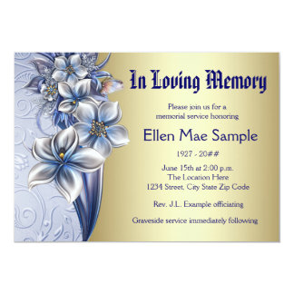 Memorial Service Cards & Invitations | Zazzle.co.uk
