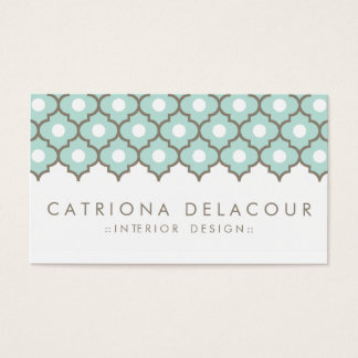 Elegant Blue Moroccan Pattern Business Card