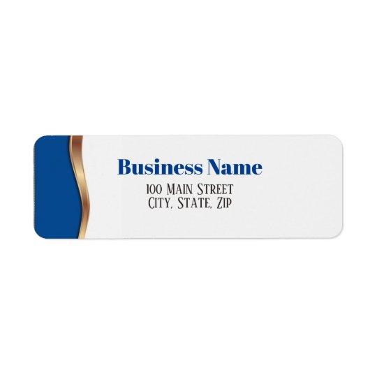 Elegant Blue Return Address Label
