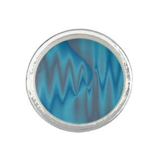 Elegant Blue Satin Design Ring