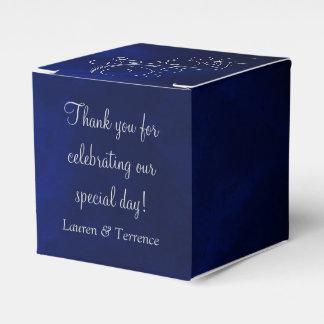 Elegant Blue Silver Wedding Party Favour Boxes