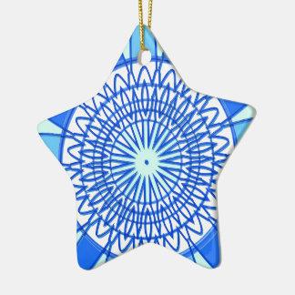 Elegant Blue Sparkle Jewel Design Christmas Ornaments