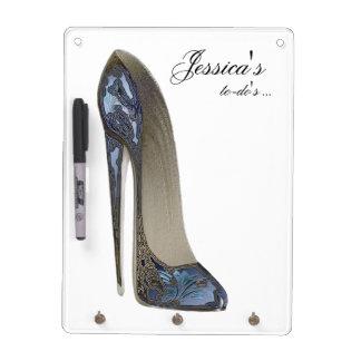 Elegant Blue Stiletto High Heel Shoe Art Gifts Dry Erase Boards