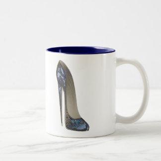Elegant Blue Stiletto Shoe Art Gifts Mugs