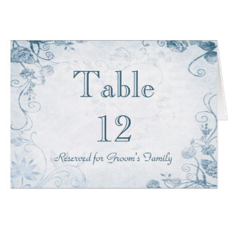 Elegant Blue Table Seating Name Card