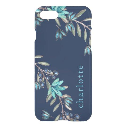 Elegant Blue/Teal Floral Pattern iPhone 8/7 Case