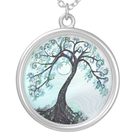 Elegant Blue Tree of life Necklace